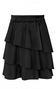 Olivia-Satijnen-Rok-Zwart