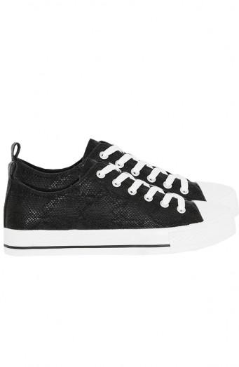 Sneakers-Slangenprint-Soof-Zwart'