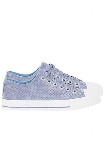 Suede-Sneakers-Soof-Jeansblauw'