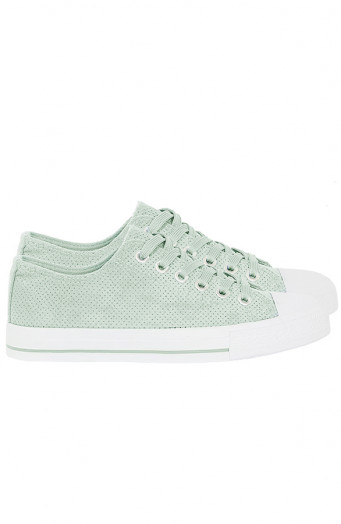 Suede-Sneakers-Soof-Mintgroen'