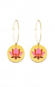 Thirza-Lotus-Oorbellen-Goud